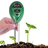 CHIN FAI Soil PH Meter, Chinfai 3-in-1Soil test kit per l' umidità, luce e pH interni/esterni, ad alta precisione e indicatore di facile lettura (nessuna batteria necessaria)