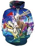 NEWISTAR Unisex 3D Druck Hoodies Kapuzenpullover Langarm Galaxy Bunte Weihnachtspullover Kapuzenpull Sweatshirt Kapuzenjacke L/XL