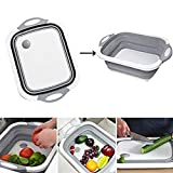 Dragon Honor FUB 4 in 1 Multifunction Foldable Cutting Board Washing Basket Kitchen Home Cooking...