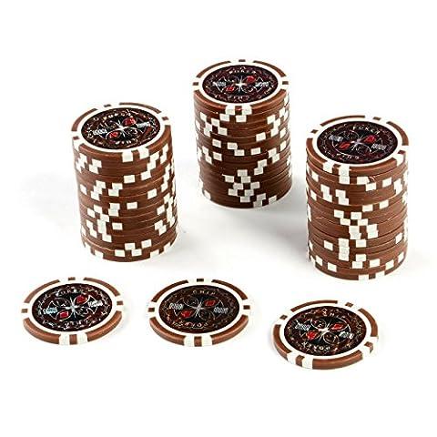 50 Poker Chips Wert 10000 11 g für Pokerkoffer