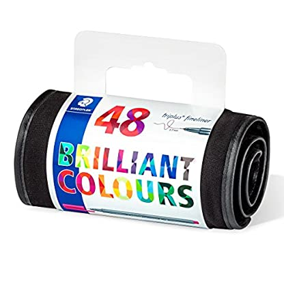 Staedtler 334 triplus Fineliner Juego – 48 Colores en el Papel pluma, nur Stifte