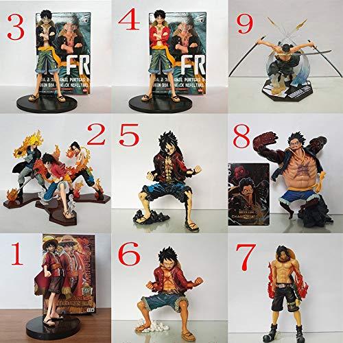 5 Stück Resin (LLKOZZ Ein stück Anime Statue Luffy Spielzeug Modell PVC Exquisite Anime Dekoration Handwerk sammlungen - mehrdimensionale Vielzahl Anime Statue Spielzeug (Color : 5))