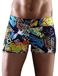 Dehang Bañador Bóxer Traje de Baño Natación para Hombres calzoncillos interior de hombres estampado de moda (talla: XXXL) - Grafiti letras