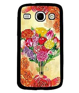 Fuson 2D Printed Flower Designer back case cover for SAMSUNG GALAXY CORE I8262 / I8260 - D4559