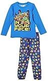 Tortues Ninja Pyjama Long Enfant garçon Gris et Bleu de 3 à 8ans (8 Ans, Bleu)