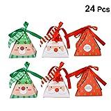 YEAHIBABY 24 pièces Boîtes de Bonbons de Noël, Boîtes à gâteries Boîte de Cadeau de Noël