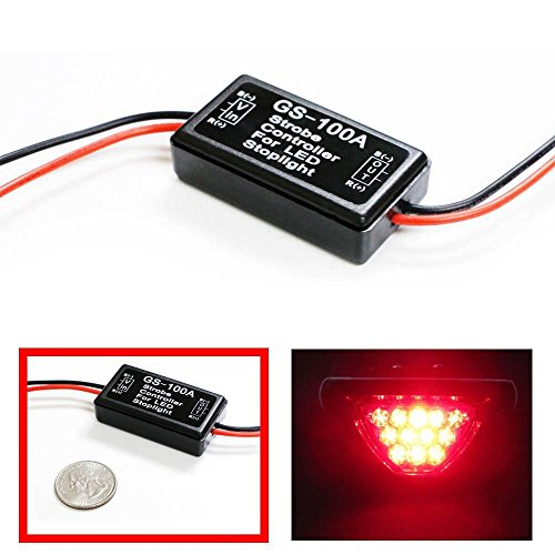 DLLL GS-100A Blinkermodul für SUV, Lkw, Kfz, Motorrad, Panzer, gepanzerte Fahrzeuge, Elektro-Fahrräder und andere LED-Leuchten, LED-Bremslicht -