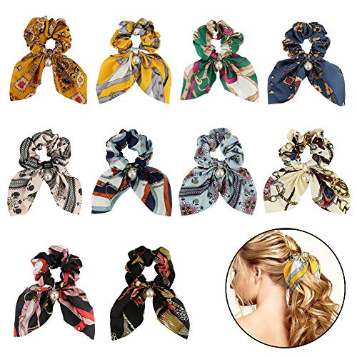 FANTESI 10 pcs Hair Scrunchies, ...
