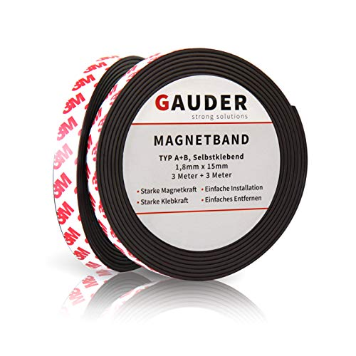 GAUDER Typ A + B Magnetband stark selbstklebend I Fliegengitter I Magnetstreifen