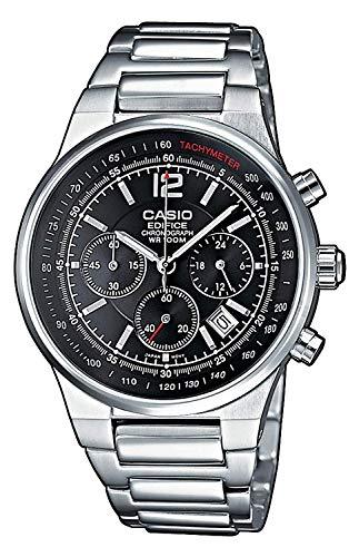 Casio orologio cronografo al quarzo uomo con cinturino in acciaio inox ef-500d-1avef