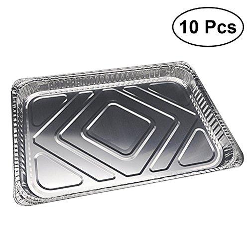 BESTONZON 10pcs Aluminium Folie Pfannen einweg Alutropfschalen Backblech BBQ Teller