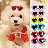 ueetek 20Stück Tier Hunde Haar Clips Herz Sonnenbrille Stil Ohrringe für die Haare für Haustiere/Schleifens (zufällige Farbe)