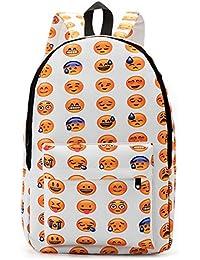 Minetom Lona Backpack Mochilas Escolares Mochila Escolar Casual Bolsa Viaje Moda Expresión Facial Emoji Mujer