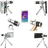 Voguecase 12X de zoom de la Lente Telefoto Teleobjetivo de Cámara de Teléfono + Trípode de Aluminio + Bolsa de la Cubierta de la Funda para Samsung Galaxy Note 4