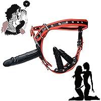 Umschnalldildo strap on dildo Love Loop 3 Silikon Dildos Adjustable Hohles SM Sex-Spielzeug von Adult Produkte für Manner und Frauen vor allem Lesben 6,8 Zoll Dildo