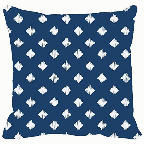 Indigo Blue Hand Drawn Seamless Pattern Abstract Pattern Abstract Backgrounds Textures Pattern Backgrounds Textures Throw Pillows Covers Cushion Case Pillowcase Home Sofa Couch 18 x 18 Inches Pillow Delft Diamond