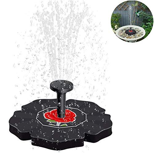 MJLXY 7V / 1.4W Solar Springbrunnen, Teichpumpe Solar Monokristalline Panel Solarpumpe Fontäne für Gartenteiche, Fisch-Behälter, Garten Springbrunnen Wasserspiel Dekoration