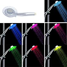 alcachofa ducha led, ZSZT cambia los colores de la cabeza de ducha 7 gradualmente cambiando