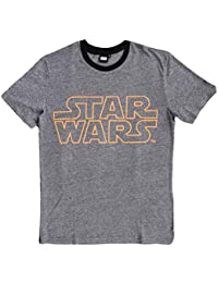 7dafbd4f5f9 Star Wars SW53024787 Mens T-Shirt Top Yarn Dye Stripes Cotton