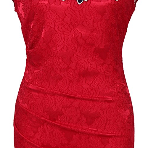 U8Vision - Robe - Cocktail - Femme Small Rouge
