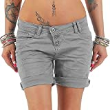 Juqilu Jeans Bermuda Shorts für Damen Kurze Denim Hosen Casual Kurz Jeans Hotpants Shorts mit Taschen Sommer S-5XL