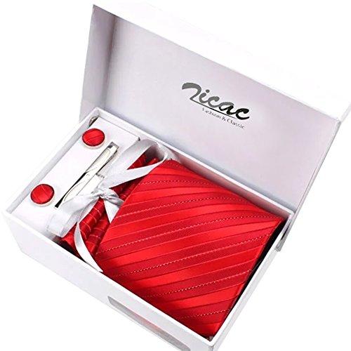 Elegante corbata rojo frambuesa