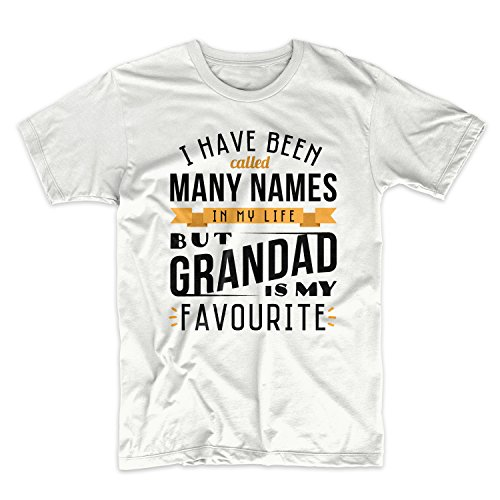I Have Been Called Many Names But Grandad Is My Favourite Grandfather Herren T-Shirt Weiß