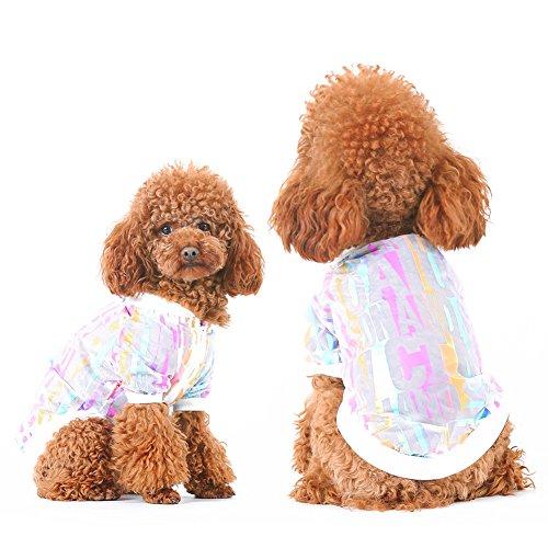 CplaplI Bei Kleidung des Haustiers Domestico Cute Dog Cat Pet Sun Schutzkleidung Sport Hip Hop Stil Block UV Kleidung