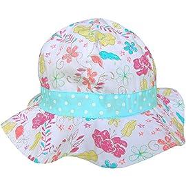 TeddyTs Baby Girls Pink /& White Gingham Pattern Daisy Summer Sun Beach Hat