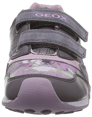Geox - Jr New Jocker Girl A, Sneaker basse Bambina Grey/Dk Rose