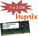Hynix Original (2 GB, 200 pines, DDR2 – 667 PC2 – 5300) 128 Mx8 x 16 de doble Side (hymp125s64cp8 Y5) para ordenador + subportátil