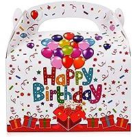FLOFIA 30pz Scatole Regalo Compleanno Scatoline Portaconfetti in Carta Bomboniere Scatole Happy Birthday per Regalini…