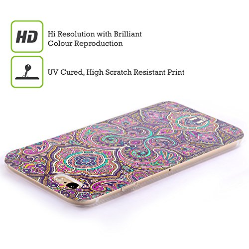 Head Case Designs Telefono Jazzy Vintage Cover Morbida In Gel Per Apple iPhone 7 / iPhone 8 Rosa