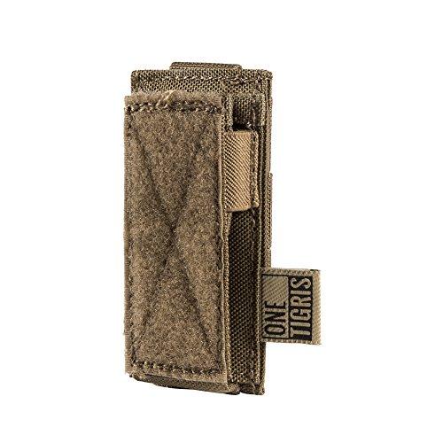 OneTigris MOLLE Taktische Pistole Magazinetasche mit 1/2 Mag Pouch für M1911/92F/GLOCK (Braun-Single Pistole) |MEHRWEG Verpackung
