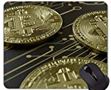 Yanteng Tappetini per Mouse da Gioco, tappetini per Mouse con rettangolo Personalizzato Dollar Bitcoin Paper Dollar