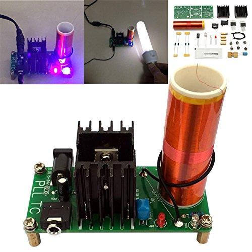 Bluelover Mini Tesla Coil Plasma Lautsprecher Kit 15W Elektronische Musik Diy Projekt Teile (Kits Elektronische Projekte)