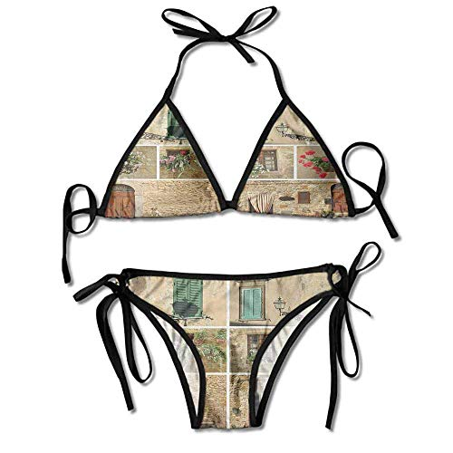 Bikini Women's 2 Pieces,with Old Classic Shutter Sexy Bikini 2 Pieces -