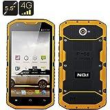 No1 X6800 - Smartphone IP68 / Batterie 6000mAh +800mAh / Écran 5.5 pouces / 4G / CPU Quad Core / Android 4.4 / Jaune