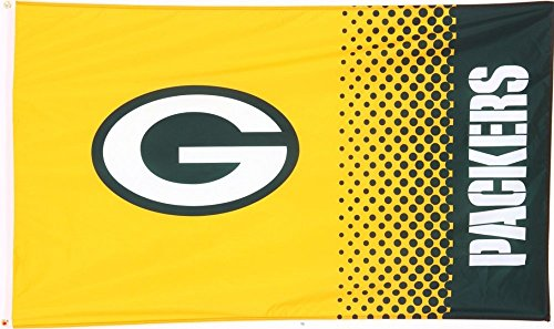 Packers Fan - 90 x 150 cm, + gratis Aufkleber, Flaggenfritze® (Green Bay Packers Fahne)