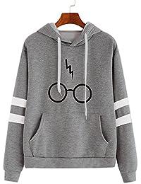99native Sweater Femme Automne Hiver Tops À Manches Longues Encapuchonné  Sweat-Shirt pour Harry Potter 395848a391e