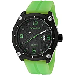 Lancaster Men's Watch with Silicone Band and Date 10ATM OLA0481NR/VR/VR