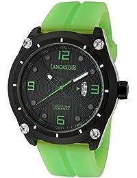 Lancaster Reloj de hombre con banda de silicona Fecha 10 bar ola0481nr/VR/VR