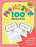 Monster 100 Sight Words: Color, Trace and Learn Practice Pages of the Most Frequently Used Words for Grades K-2 Reading Book 2 (Learning with Sight Words Books, Band 2)