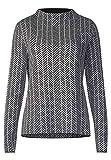 Street One Damen Pullover 300732 Keshia, Mehrfarbig (Black 20001), 40