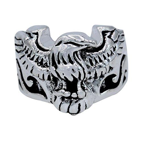 Memoir Oxidised Antique finish Brass, American state symbol, Falcon design finger ring Men stylish Latest fashion