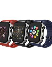 v8 pantalla táctil inteligente reloj inteligente compañero de teléfono móvil para iOS iPhone Android de Samsung , gold