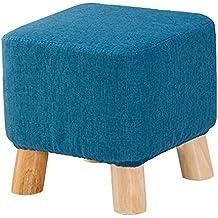 Sofá Taburete / Taburete Pequeño / Taburete De Madera / Taburete De Calzado / Reposapiés / Moda Reposapiés De Tela Creativa / De Lujo / Reposapiés Multifuncionales (4 Colores) ( Color : Azul )