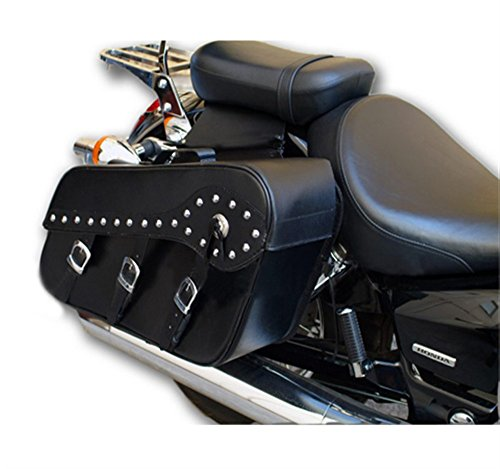 Australian Bikers Gear – Alforjas Held Sissy Maleta 2 piezas en Cuero PU Typo Harley Riveted