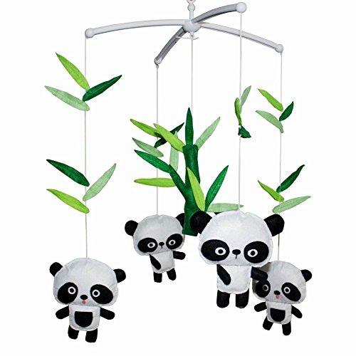 Panda Mobile ([Cute Pandas] schöne Kind Musik mobil handgemachte Babykrippe Handy)