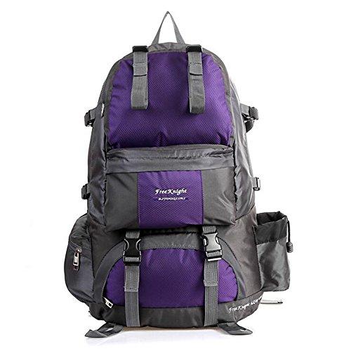 50L Outdoor-Rucksack-Beutel-wasserdichte Bergsteigen Wandern Camping Reisen Daypack Purple